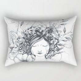 Winter Poppy Fairy Rectangular Pillow