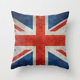 """English Flag """"Union Jack"""" bright retro 3:5 Scale Throw Pillow"""