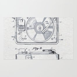 Record player 1950 Rug