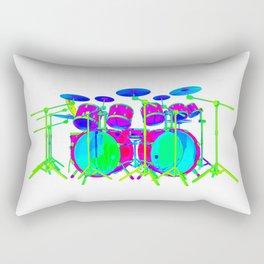 Colorful Drum Kit Rectangular Pillow