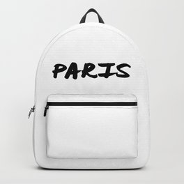 'Paris' Hand Letter Type Word Black & White Backpack