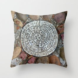 Hall's Hill Labyrinth Throw Pillow