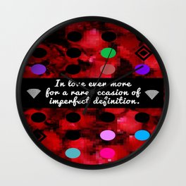Unrequited Love Wall Clock