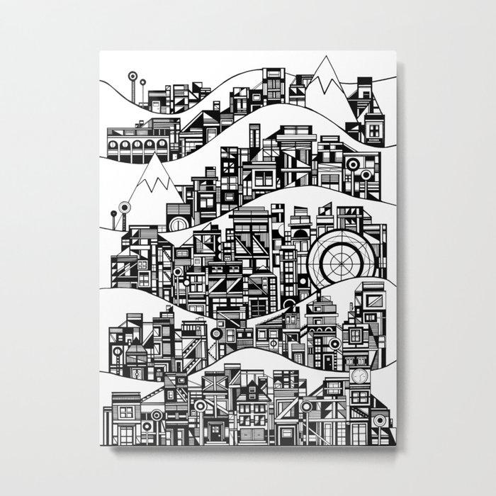 Tall Cities Metal Print