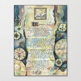"Calligraphy of the poem ""IF"" by Rudyard Kipling Canvas Print"