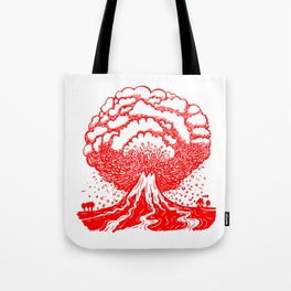 Volcano - Red Tote Bag