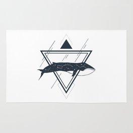 Cosmic Whale. Geometric Style Rug