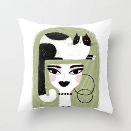 CAT CROWN Throw Pillow
