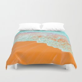 Coral Shore #photography #digitalart Duvet Cover