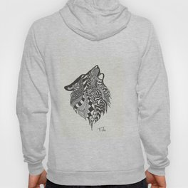 Doodle Howling Wolf Hoody