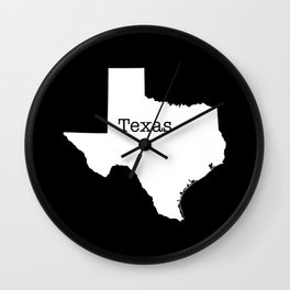 Cartography of the famous State of Texas Wall Clock