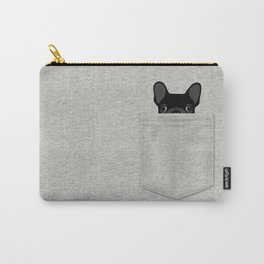 Pocket French Bulldog - Black Carry-All Pouch