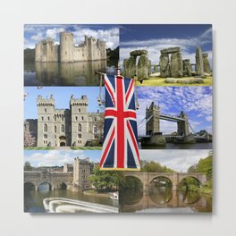 Great British History Metal Print
