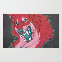 Ravewolf -Teal and Berry Rug