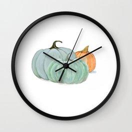 Colorful pumpkin trio Wall Clock