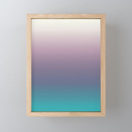 Ombré Ocean Framed Mini Art Print