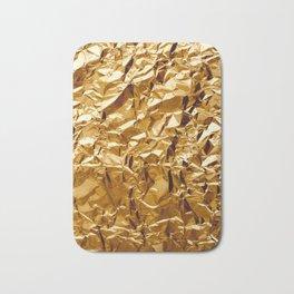Crumpled Golden Foil Bath Mat