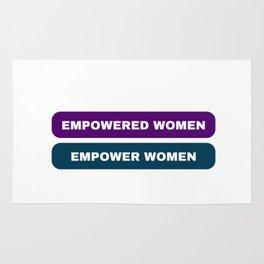 empowered women empower women feminist quote Rug
