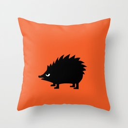 Angry Animals: hedgehog Throw Pillow