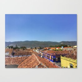 Rooftops in San Cristobal Canvas Print