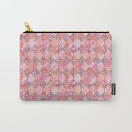 Luxury Gold and Pink Glitter effect oriental pattern Carry-All Pouch