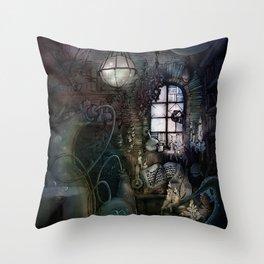 Alchemist's Lab Throw Pillow