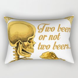 TWO BEERS OR NOT TWO BEERS Rectangular Pillow