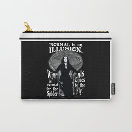 "Morticia Addams- ""Normal is an Illusion."" Carry-All Pouch"