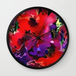 Plenty Poppies Wall Clock
