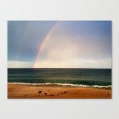 Beach Rainbow Canvas Print