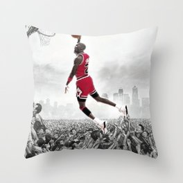 BALLING LIKE JORDAN Throw Pillow
