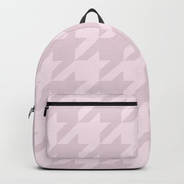 Pink Houndstooth Backpack