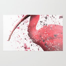 Red Ibis Portrait Rug