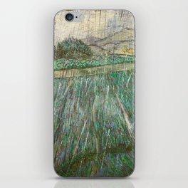 Vincent Van Gogh Wheat Field In Rain iPhone Skin
