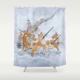 Cry Heckin' and Let Slip the Doges of War Shower Curtain