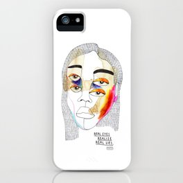 Real Eyes Realize Real Lies iPhone Case
