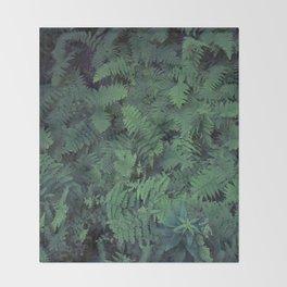 Fern Leaf Pattern Throw Blanket