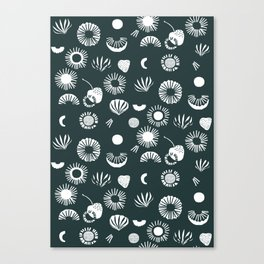 Seaflower mono Canvas Print