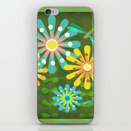 In The Garden Among The Flowers iPhone Skin
