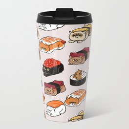 Sushi Persian Cat Metal Travel Mug
