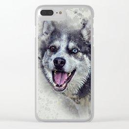 Beautiful husky Clear iPhone Case