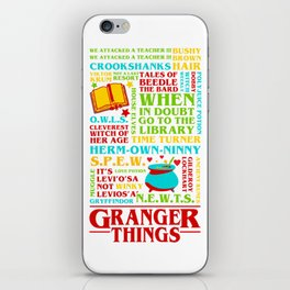 Granger Things iPhone Skin