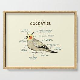 Anatomy of a Cockatiel Serving Tray