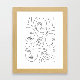 Her and Her Framed Art Print