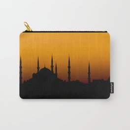 Beautiful silhouette of a mosque at sunset Carry-All Pouch