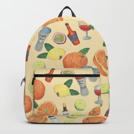 cocktail recipe pattern _ zombie Backpack