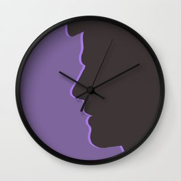 Castiel / Misha Collins Supernatural (Silhouette Collection) Wall Clock