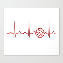VOLLEYBALL HEARTBEAT Canvas Print