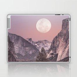 Pastel Full Moon Over Yosemite Park Laptop & iPad Skin