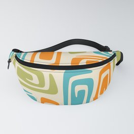Mid Century Modern Cosmic Abstract 738 Orange Blue and Green Fanny Pack